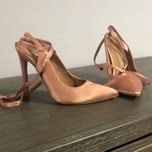 ASOS tie up heels